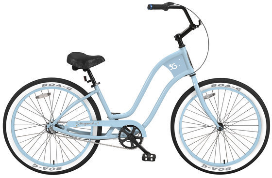3G Bikes Newport 3 Speed Color: Baby Blue w/Baby Blue Rims