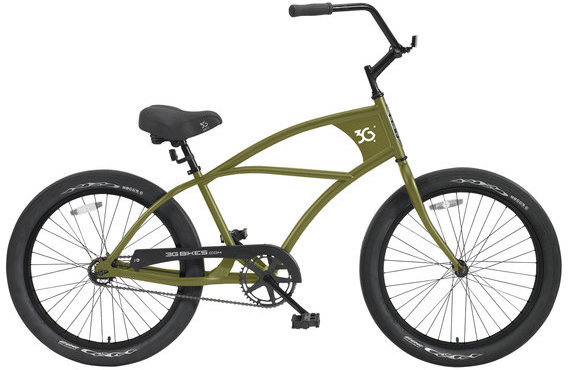 3G Bikes Puck Color: Army Green w/Black Rims