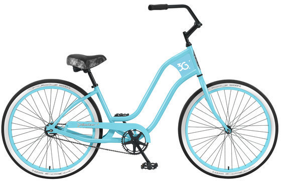 3G Bikes Venice 1 Speed Color: Baby Blue w/Baby Blue Rims