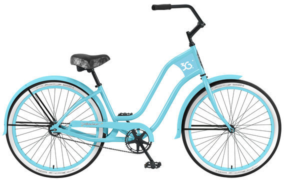3G Bikes Venice 1 Speed w/Fenders Color: Baby Blue w/Baby Blue Rims