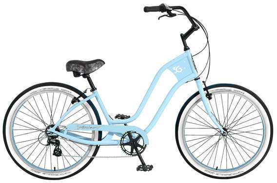 3G Bikes Venice 7 Speed Color: Baby Blue w/Baby Blue Rims