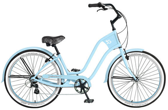 3G Bikes Venice 7 Speed w/Fenders Color: Baby Blue w/ Baby Blue Rims