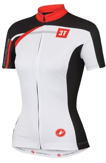 3T Team Woman Jersey Color: White/Black/Red