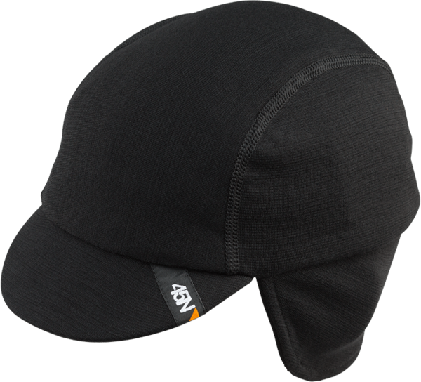 45NRTH Greazy Merino Wool Cycling Cap Color: Black