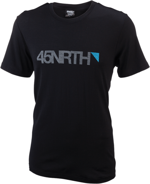 45NRTH Merino Logo T-Shirt Color: Black