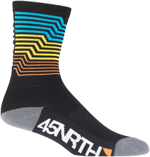 45NRTH Midweight Sock Color: Electric Rift
