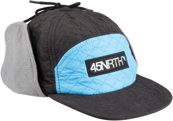 45NRTH Polar Flare Flap Cap Color: Black/Blue