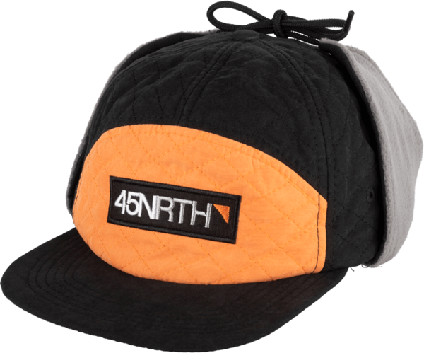 45NRTH Earflap Hat Color: Black/Orange