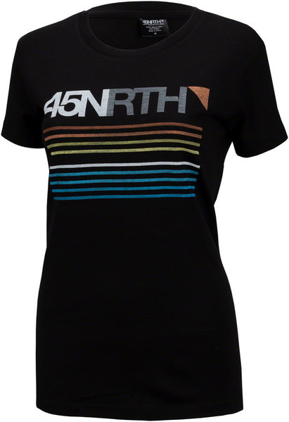 45NRTH Team Stripe Merino T-Shirt Color: Black
