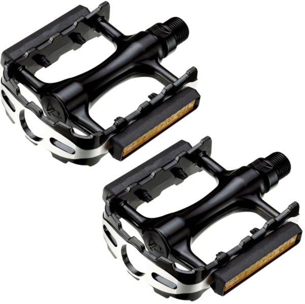 49°N DLX Trekking Pedal Color: Black/Silver