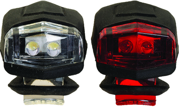49°N Doppler Lights - Front & Rear Set Color: Black