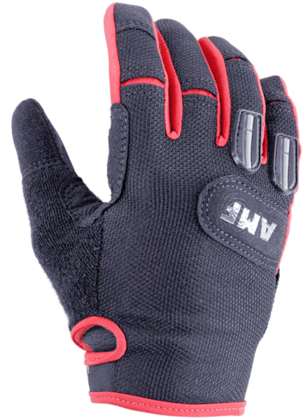 49°N Mens AMF All Mountain Freeride Gloves Color: Black/Red