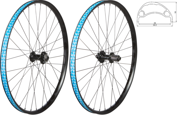 49°N MTB 27.5-inch Boost Disc 6-Bolt/TA Rear Wheel