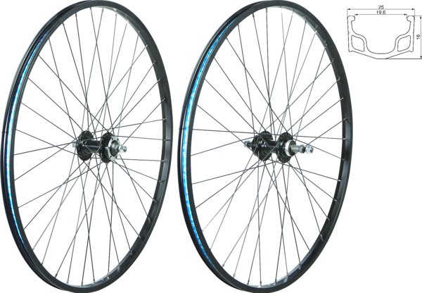 49°N MTB/Urban 29-inch/700C Rim & Disc Front Wheel Color: Black