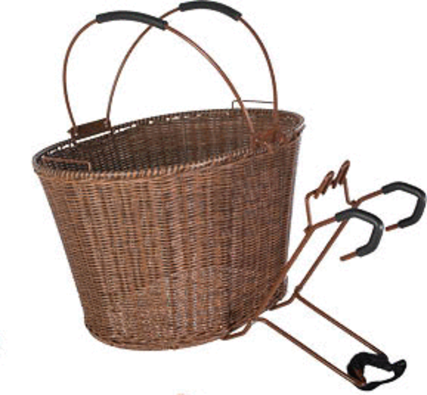 49°N St. Lawrence - Wicker QR Basket Color: Brown