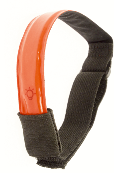 49°N Velcro Strap LED Band Color: Hi-Viz Orange