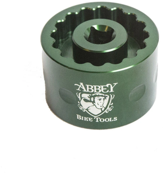 Abbey Bike Tools Dual Sided Bottom Bracket Socket Cup (for Dura Ace/Ultegra) Color: Green