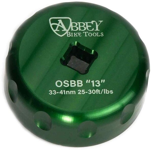 Abbey Bike Tools OSBB E13 Single Sided Bottom Bracket Socket Cup Tool Color: Green