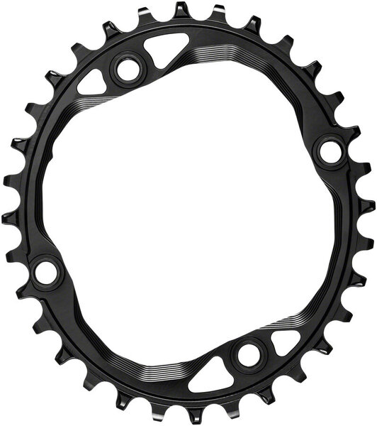 absoluteBLACK Oval 104 BCD 4-Bolt Chainring Color: Black