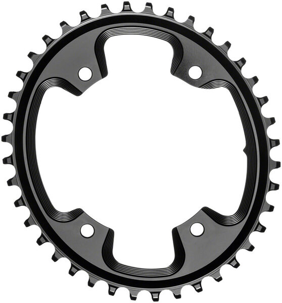 absoluteBLACK Oval 110 BCD 4-Bolt 1x CX Chainring Color: Black