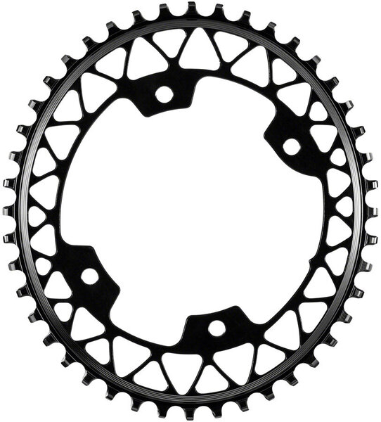 absoluteBLACK Oval 110 BCD 4-Bolt Gravel Chainring Color: Black