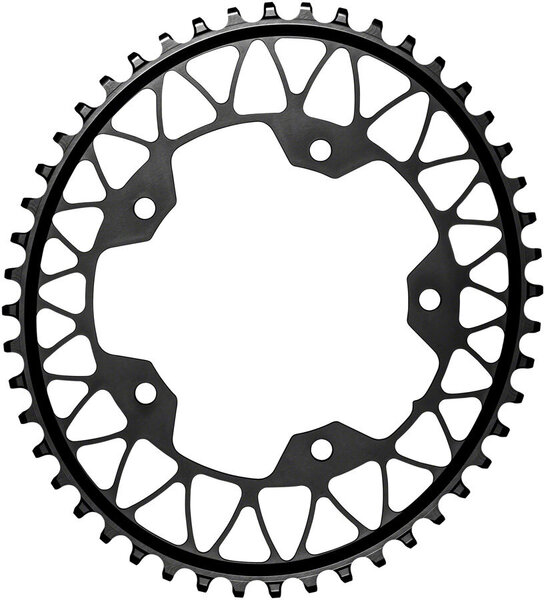 absoluteBLACK Oval 110 BCD 5-Bolt Gravel Chainring Color: Black