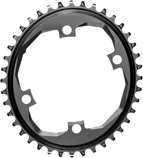 absoluteBLACK Oval 110 BCD Chainring for SRAM Apex 1 Color: Black