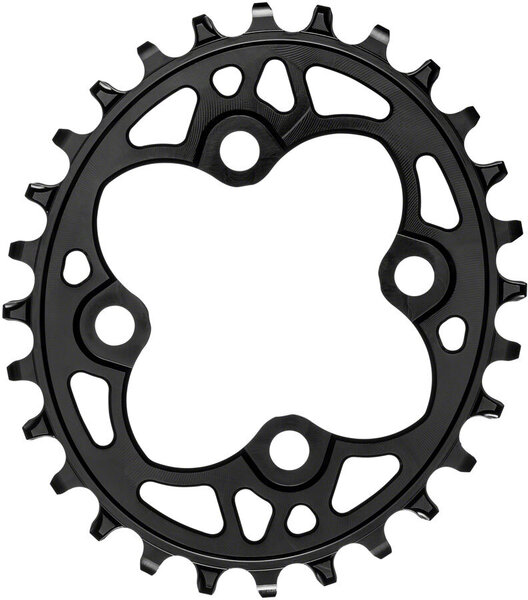 absoluteBLACK Oval 64 BCD 4-Bolt Chainring Color: Black