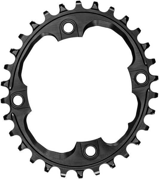 absoluteBLACK Oval 94 BCD 4-Bolt Chainring Color: Black