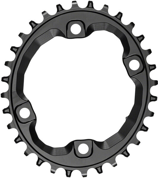 absoluteBLACK Oval 96 BCD Asymmetric Chainring for Hyperglide+ Color: Black