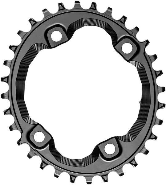 absoluteBLACK Oval 96 BCD Asymmetric Chainring for Shimano XT M8000/SLX M7000 Color: Black