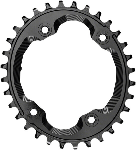absoluteBLACK Oval 96 BCD Asymmetric Chainring for Shimano XTR M9000 Color: Black