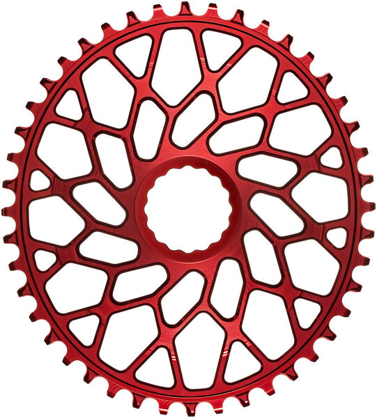 absoluteBLACK Oval Direct Mount 1x Chainring for CINCH Color: Red