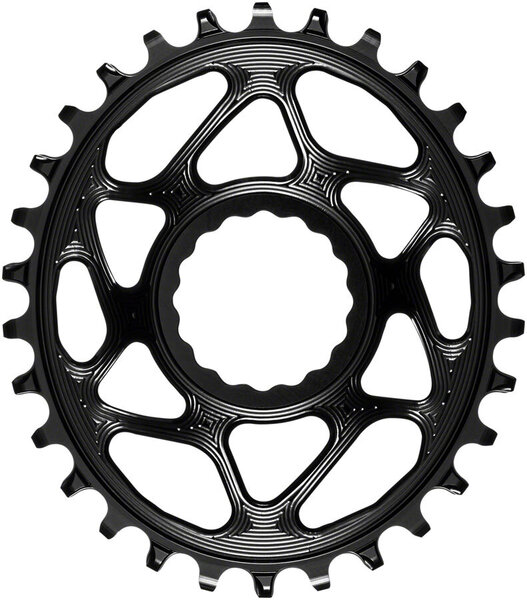 absoluteBLACK Oval Direct Mount Chainring for CINCH 3mm Offset Color: Black