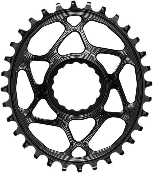 absoluteBLACK Oval Direct Mount Chainring for CINCH 6mm Offset Color: Black