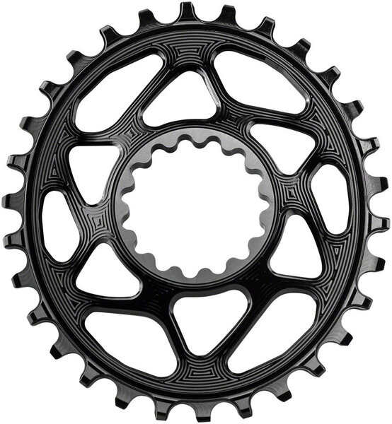 absoluteBLACK Oval Direct Mount Chainring for e-thirteen Color: Black