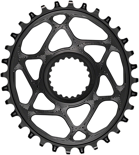 absoluteBLACK Oval Direct Mount Chainring for Shimano Hyperglide+ Color: Black