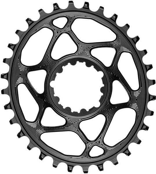 absoluteBLACK Oval Direct Mount Chainring for SRAM 3-Bolt 3mm Offset Color: Black