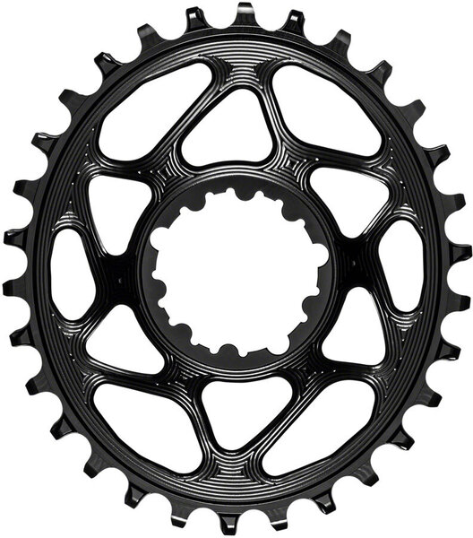 absoluteBLACK Oval Direct Mount Chainring for SRAM 3-Bolt 6mm Offset Color: Black