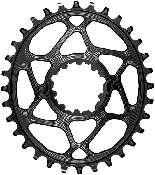 absoluteBLACK Oval Direct Mount Chainring for SRAM and Hyperglide+ Color: Black