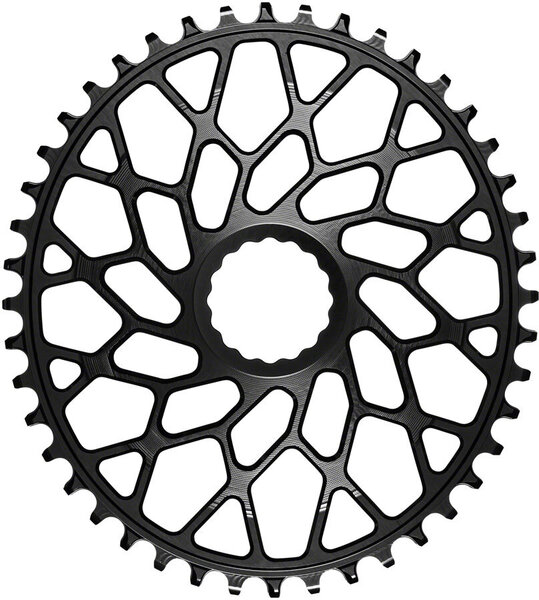 absoluteBLACK Oval Direct Mount CX Chainring for CINCH 3mm Offset Color: Black