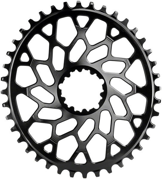 absoluteBLACK Oval Direct Mount CX Chainring for SRAM 3-Bolt 6mm Offset Color: Black
