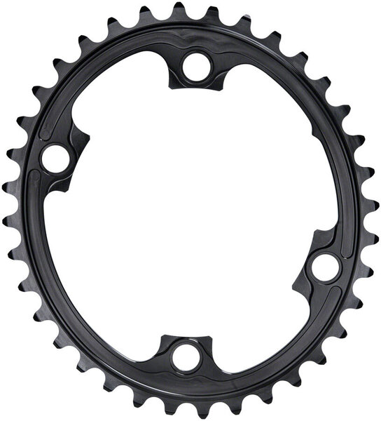 absoluteBLACK Premium Oval 110 BCD 4-Bolt Road Inner Chainring for Shimano 9000/6800/5800 Color: Black