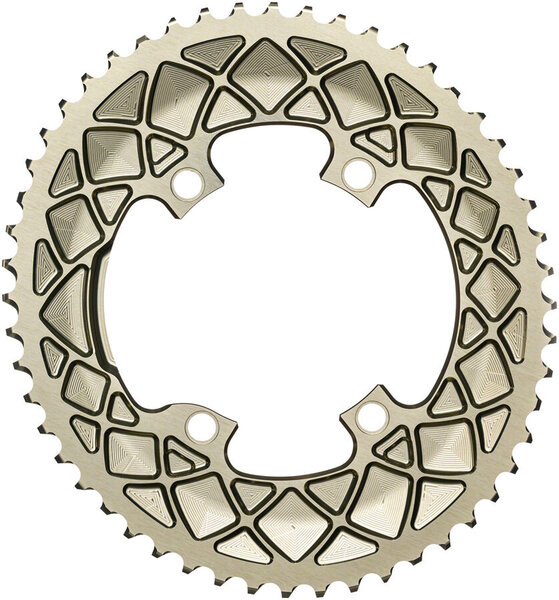 absoluteBLACK Premium Oval 110 BCD 4-Bolt Road Outer Chainring for Shimano 9100/8000/7000 Color: Champagne