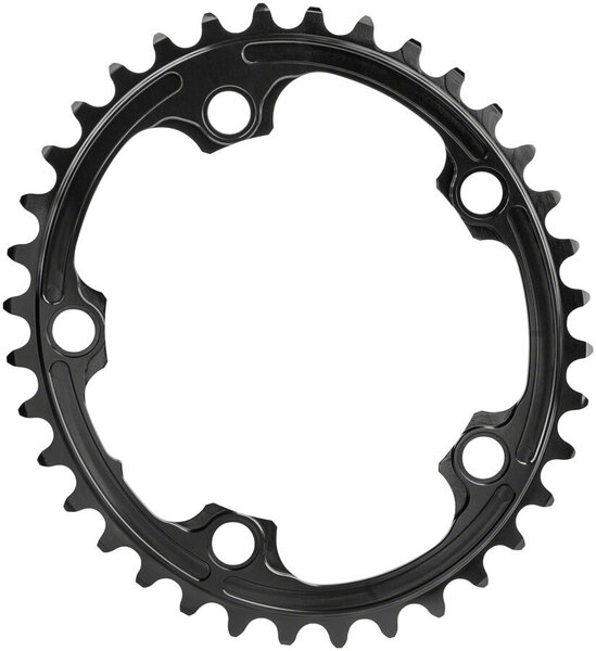 absoluteBLACK Premium Oval 110 BCD 5-Bolt Road Inner Chainring Color: Black