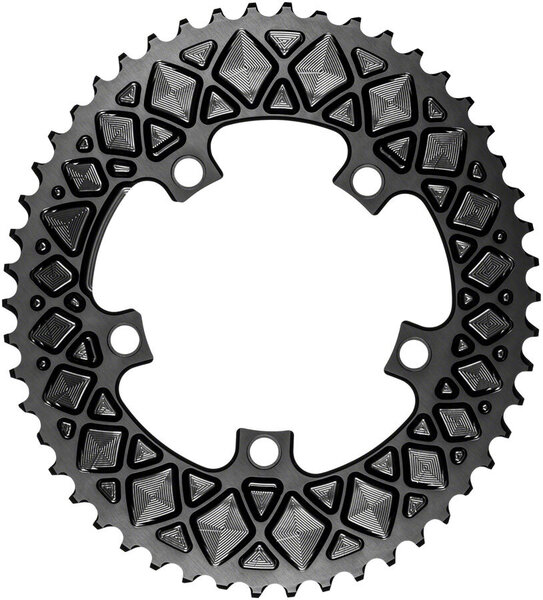 absoluteBLACK Premium Oval 110 BCD 5-Bolt Road Outer Chainring Color: Black