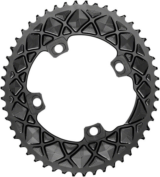 absoluteBLACK Premium Oval 110 BCD Outer Chainring for FSA ABS Color: Black