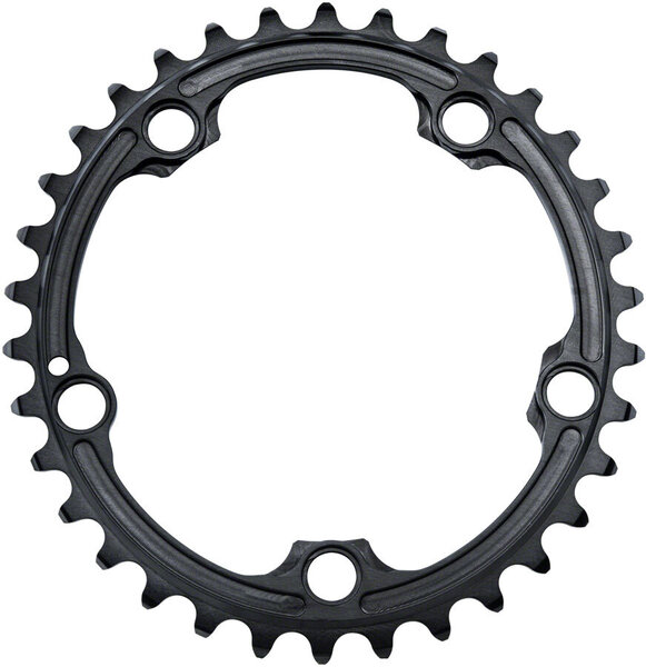 absoluteBLACK Premium Oval 110 BCD 5-Bolt Road Inner Chainring for SRAM Color: Black