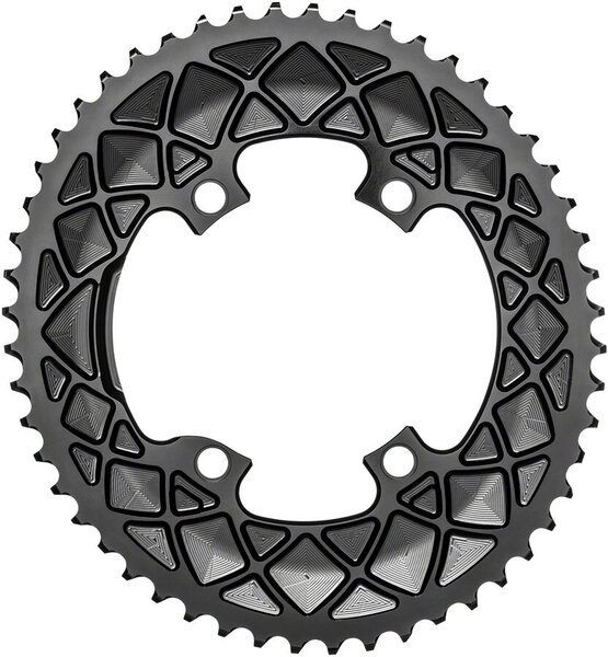 absoluteBLACK Premium Oval 110 BCD Road Outer Chainring for Shimano R9100/8000/7000 Color: Black
