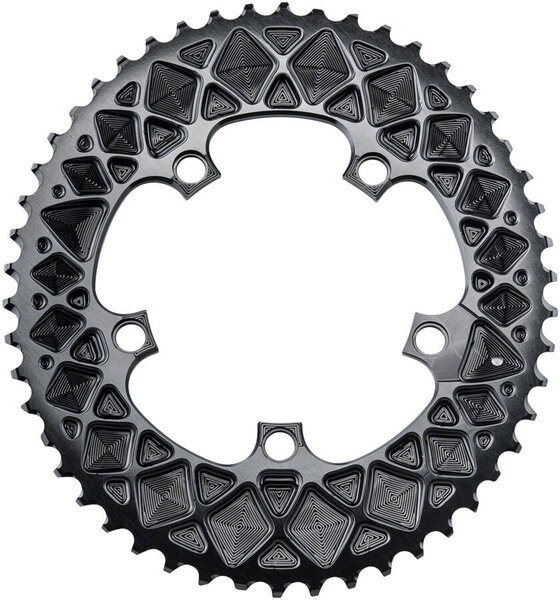absoluteBLACK Premium Oval 110 BCD Road Outer Chainring for SRAM Color: Black